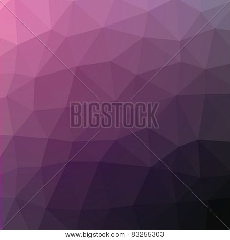 Geometric abstract dark violet low-poly paper background. Vector with transparency.