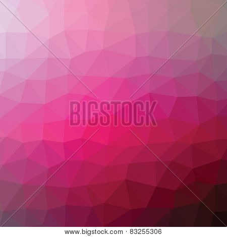 Geometric abstract bordo low-poly paper background. Vector  with transparency.