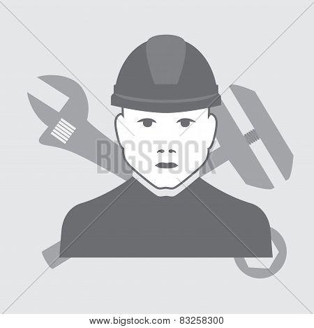 vector plumber worker