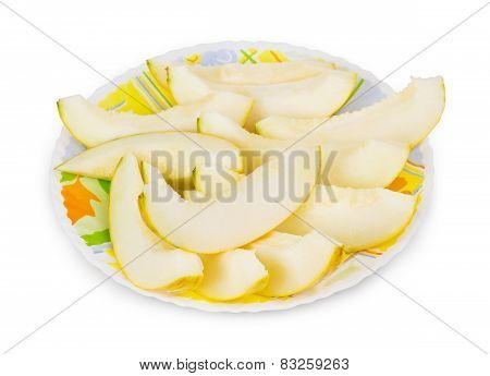Sliced Melon Lying On The Plate