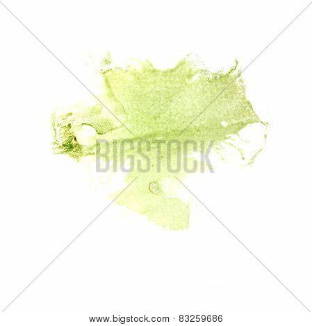 Blot divorce illustration greenish artist of handwork is isolate