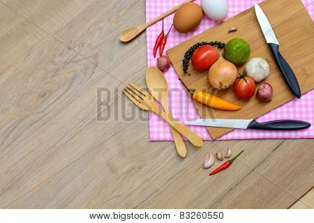 Food Ingredients With Copy Space