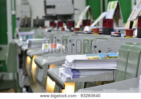 Book, magazine production line in print shop