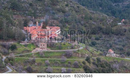 Monastery Of Machairas At Troodos Mountains, Cyprus