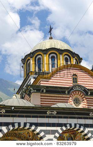 church dome in Rila, Bulgaria