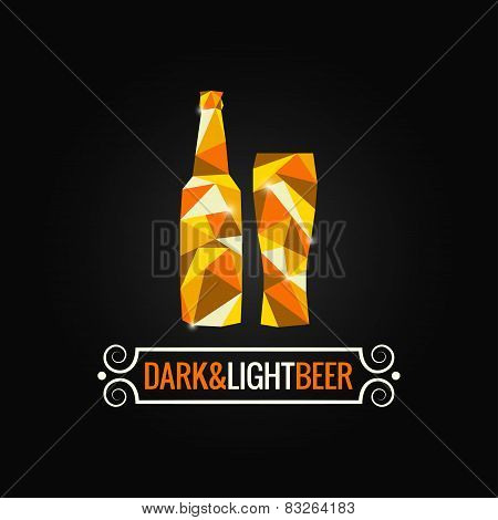 beer bottle poly design background