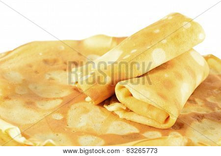 Two Rolled Pancakes