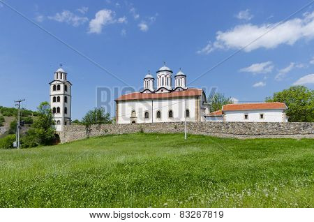 Old church in the mountain landscape