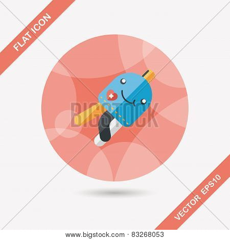 Jellyfish Doll Flat Icon With Long Shadow,eps10