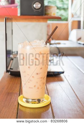 Glass Of Iced Thai Milk Tea