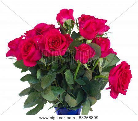 bouquet of  dark  pink roses