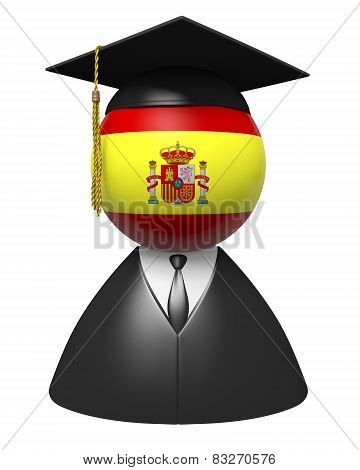 Spain college graduate concept for schools and academic education
