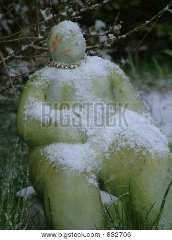 Earth mother with snow