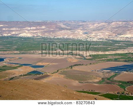 The Biblical Valley of Jordan in the Holy Land