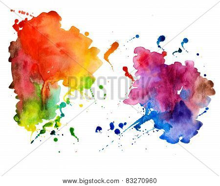 Abstract hand drawn watercolor background,vector illustration
