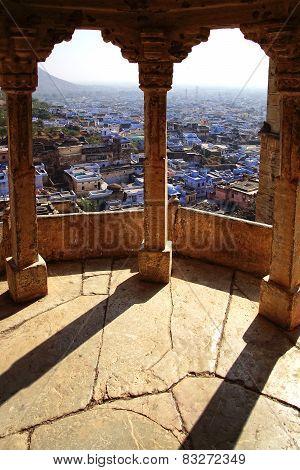 View Of Jodhpur-blue City. India.