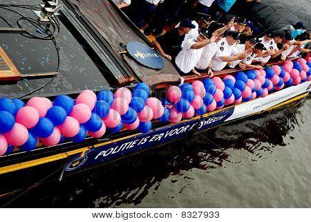 Police boat, Gay Pride 2010