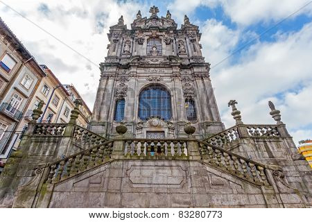 The Church of Clerigos, which is attached to the iconic Clerigos Tower, one of the landmarks and symbols of the city of Porto, Portugal. Unesco World Heritage Site
