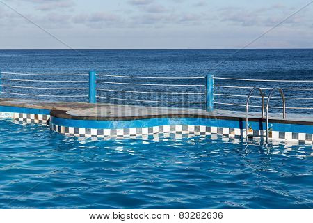 Swimming Pool At Coast Of Madeira Island