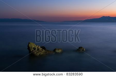 Lonely Rock at Beach