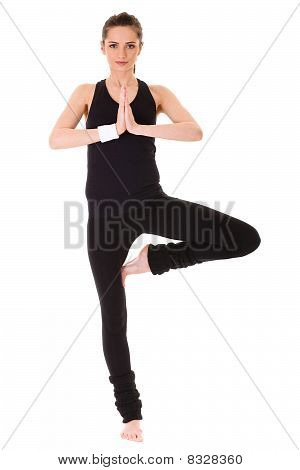 Young Attractive Female Exercise, Isolated