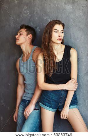 Fashion Beautiful Young Couple In Quarre