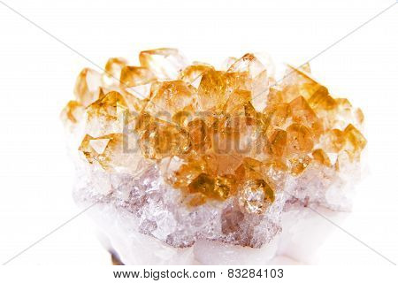 Lemon Quartz Isolated On White Background