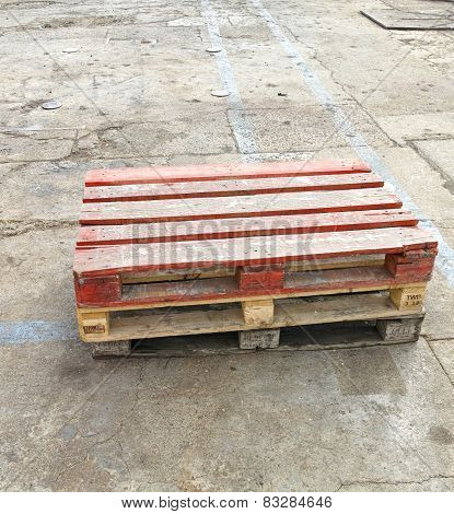 Old Wooden Shipping Pallet