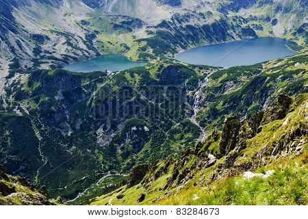Valley Of Five Ponds Polish, In The Tatras.