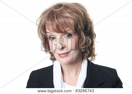 A Mature Business woman isolated on white background