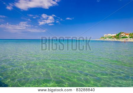 Tropical Caribbean beach, with cristal clear water