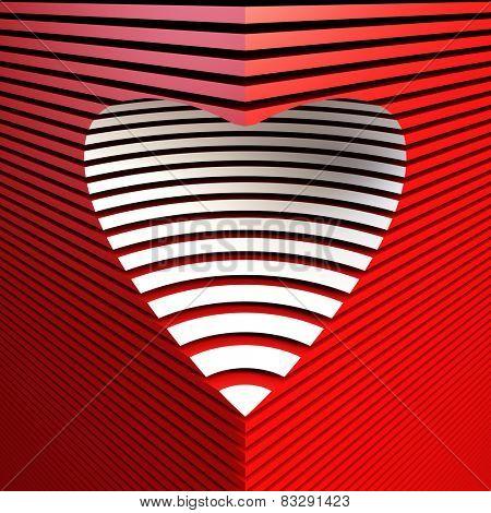 red symbolic valentine heart, 3d render