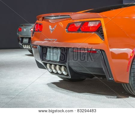 Two 2015 Chevrolet Corvettes