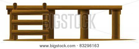 Illustration of a close up platform