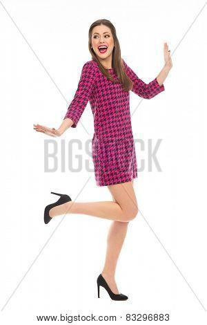 Flirty pin-up girl posing