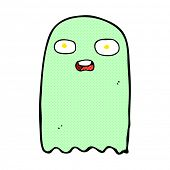 picture of funny ghost  - funny retro comic book style cartoon ghost - JPG