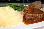 stock photo of mashed potatoes  - Meatloaf - JPG