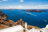 stock photo of greek-island  - Santorini island Greece - JPG