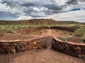 image of pueblo  - Wupatki pueblo ruins National Monument Arizona USA - JPG