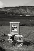 stock photo of sewage  - RV camping sewage dump station at a campground in Iceland - JPG