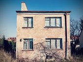 image of neglect  - Retro vintage filtered old neglected house exterior - JPG