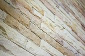 picture of brownstone  - Close up modern brick wall  - JPG