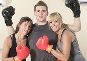 stock photo of revenge  - Young person posing during fitness and boxing - JPG