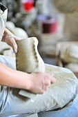 polish of a ceramic vase poster