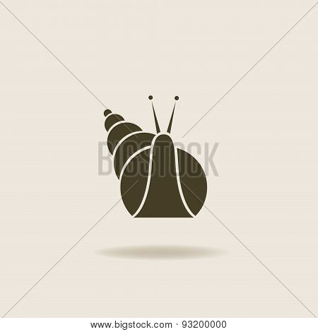 stylized silhouette of a snail