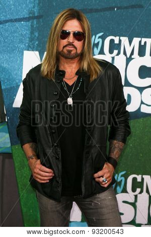 NASHVILLE, TN-JUN 10: Singers Billy Ray Cyrus attends the 2015 CMT Music Awards at the Bridgestone Arena on June 10, 2015 in Nashville, Tennessee.