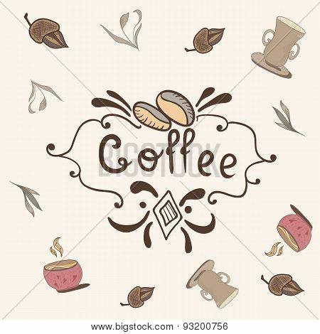 Print with Coffee Lettering