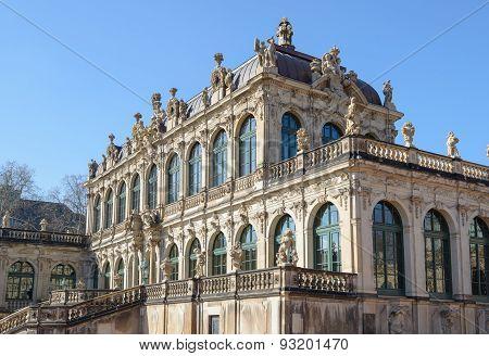 View Of Mathematisch-physikalischer Salon Of Zwinger In Dresden, Germany.