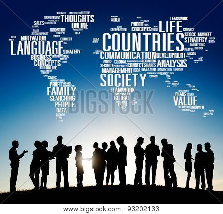 Countries Language Society Global International Concept