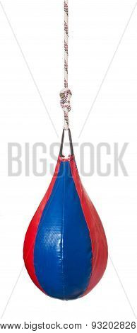 Pear Shaped Red And Blue Leather Speed Ball